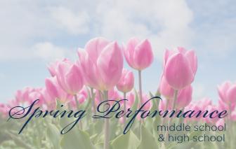 Middle School & High School Spring Concert