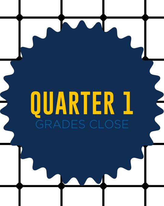 Quarter One Ends